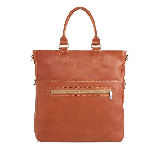 Sonnenleder - hochwertige Handtasche SIENA Farbe: Natur, Innenfutter: Ecru *Echtes Leder* …