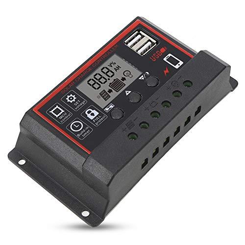 Zouminyy Controlador de Carga Solar con Panel de celda PWM, gestión de...