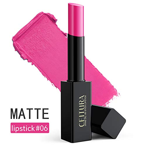 CEITURA Moisture Matt Lippenstift für Personalisiert Make-up,Authentisch Barbie Pink #006, 1 pack