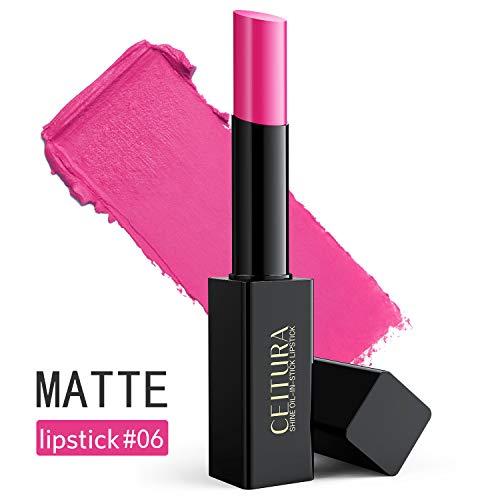 Lippenstifte, Barbie Pink Matte Lippenstifte Lang anhaltende Feuchtigkeitspflege für Nude Make up, CEITURA # 006, 1 Tube