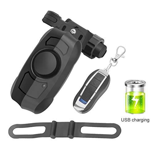 Phayee Bike Alarm, fietsalarm, diefstalveilig trilalarm met afstandsbediening, 110 dB claxon, USB-oplaadbaar, voor fiets, outdoor, sport, reizen