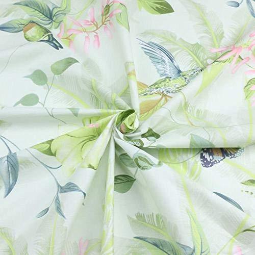 Zzxx 235cm*50cm vogel bloem katoen beddengoed stof dekbedovertrek beddengoed gordijn quilt naaien stof patchwork weefsel