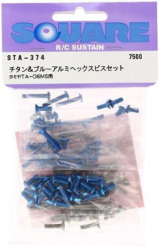 Titan und blau Aluminium hex-Schrauben-Set (für Tamiya TA-06MS) STA-374