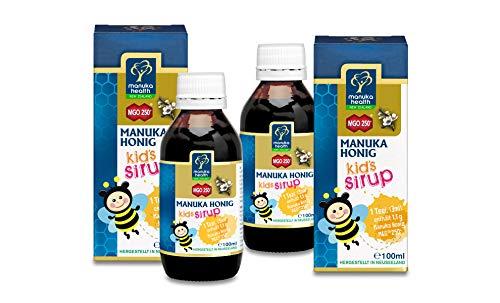Manuka Health Kinder Sirup mit Manuka Honig MGO 250+, 2er Pack