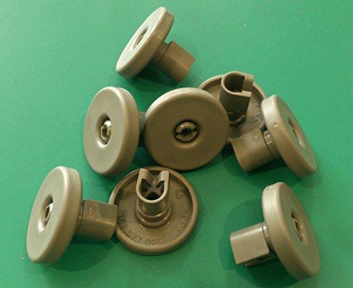 Kit de ruedas para cesto inferior de lavavajillas de Ikea, 8 unidades, gris oscuro, para Rengora, RDW45, RDWTI60, Medelstor, LDW60, Skinande, Hjalpsam