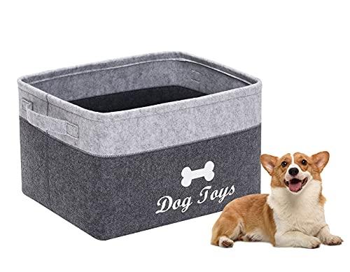 Morezi Felt pet toy box and dog ...