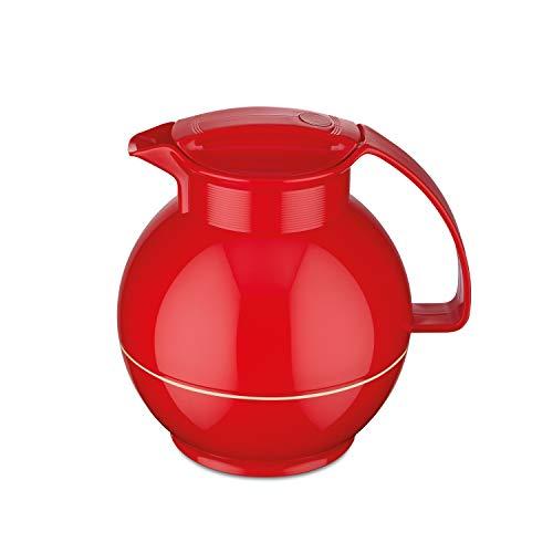 ROTPUNKT Isolierkanne 360 Sissy 1,0 l | Zweifunktions-Drehverschluss | BPA Frei- gesundes Trinken | Made in Germany | Warm + Kalthaltung | Glaseinsatz | Crazy red