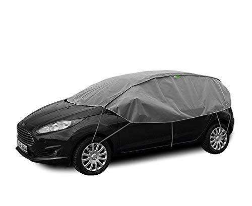 Abdeckplane Halbgarage Sonneschutz, Schneeschutz, UV Schutz, Winter & Sommer Größe S-M kompatibel mit Seat Ibiza IV