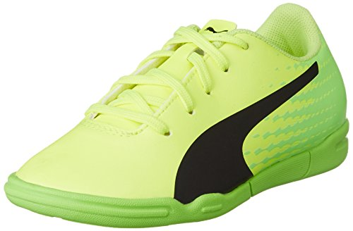 Puma Evospeed 17.5 It Jr, Botas de fútbol Infantil, Amarillo (Safety Yellow Black-Green Gecko 01), 29 EU