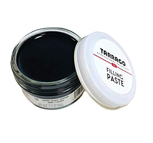 Tarrago | Filling Paste Jar 50ml | Pasta de Relleno para Reparar Todo Tipo de Calzado de Cuero, Cuero Sintético y Goma | Cuidado y Reparación del Calzado | Color Negro