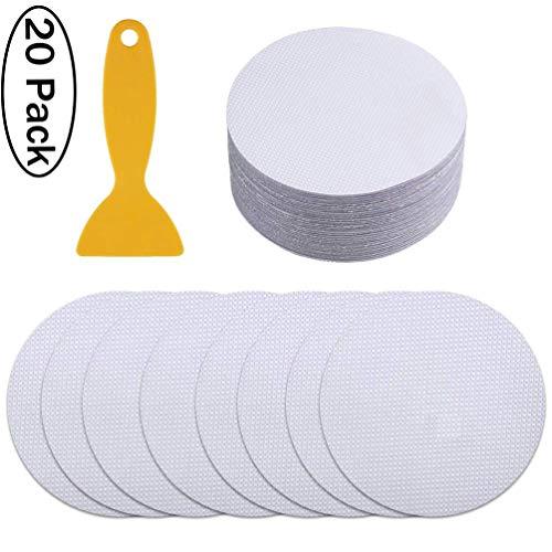 Bathtub Stickers Non-Slip Shower Treads with Scraper PEVA for Bath Tub, Shower Room Stairs, 20PCS