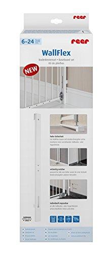 Reer WallFlex Abstandhalter zu Fußbodenleisten für alle Tür- und Treppengitter, weiß