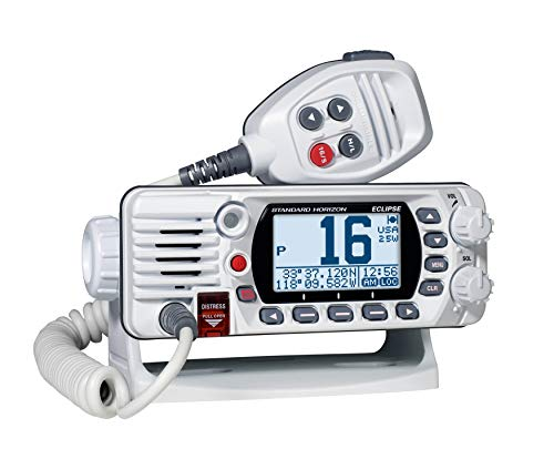 Standard Horizon Vhf 25w Gps White Fixed Mount Gx1400gw