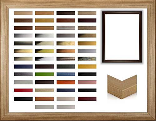 myposterframe Ophelia Bilderrahmen 39 x 43 cm MDF Größenwahl Farbe: Mokka mit Kunstglas Antireflex 1 mm