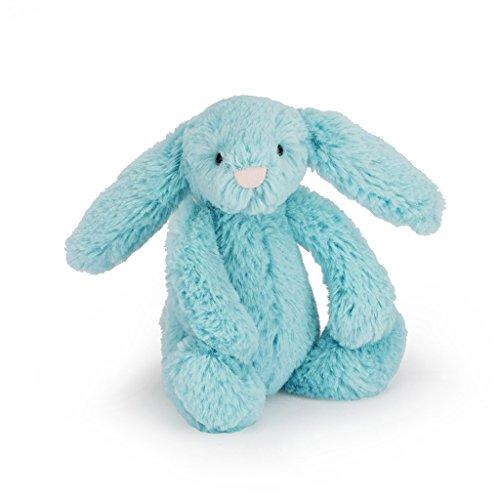 Jelly Cat- Peluche Bashful Aqua Bunny, Multicolor (Jellycat BAS3AQ)