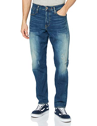 G-STAR RAW Herren Scutar 3D Slim Tapered Jeans, Blau (Antic Faded Baum Blue C052-B817), 34W / 32L