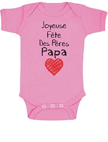 Green Turtle T-Shirts Joyeuse fête des pères Cadeau Papa Body Bébé Manche Courte 12-18 Mois Rose