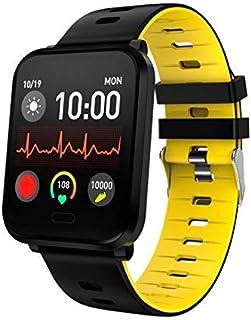 سوار رياضي K10 ساعة ذكية لتتبع معدل ضربات القلب في الهواء الطلق - أسود + رمادي، اسم اللون: أسود ورمادي (اللون: أسود + أصفر)