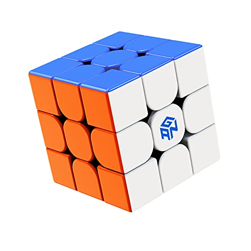 ROXENDA Gan 356 RS Speed Cube, Stickerless Gan 356RS Speedcube, Gan 3x3 Cube V3 System Cubo di Velocità 3x3x3 for Beginners and Professionals, Gan 356 R Upgraded Version