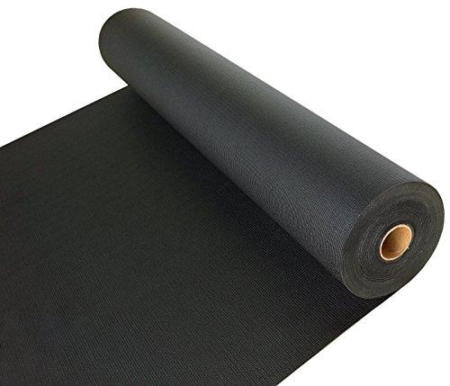 KM functional Universalbelag Bodenschutzmatte schwarz 150cm breit +LÄNGE WÄHLBAR (jeweils 100cm)+ genoppt Bodenbelag, Made in Germany