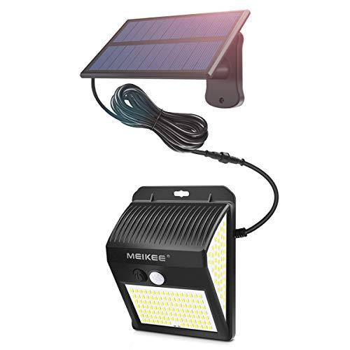 MEIKEE ソーラー式センサーライト 屋外 ブラケットライト1800mAH 30LED 6000K IP65 防犯ライト 人感センサー 200°照明角度 450lm 太陽光発電 庭 玄関 駐車場 通路 ガーデンライト 大活躍 (昼白色1個セット)
