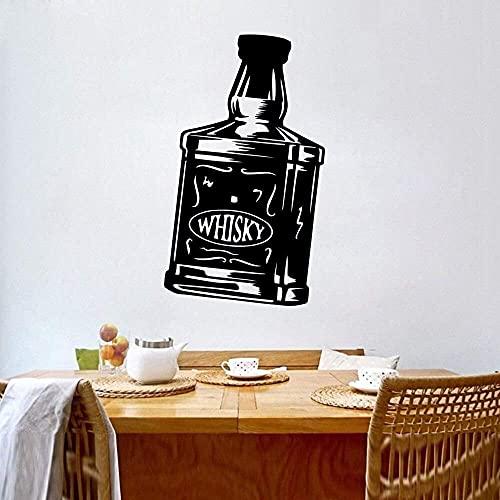 Calcomanías De Pared Pegatina De Pared Botella De Vino Decoración De Arte De Pared Impermeable Para Bar Tienda De Vinos Pvc Pegatina De Cocina Papel Tapiz 54X90Cm