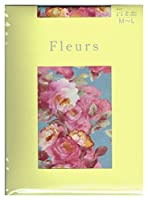 (フルール) fleurs 50Dプティカウンティス花柄タイツ(パンストタイプ)サックスベース