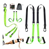 Rhinosport Sling <span class='highlight'>Trainer</span> Set with Door Anchor Adjustable Fitness Home <span class='highlight'>Suspension</span> – Suitable for Travelling and for Training Indoors and Outdoors, Green