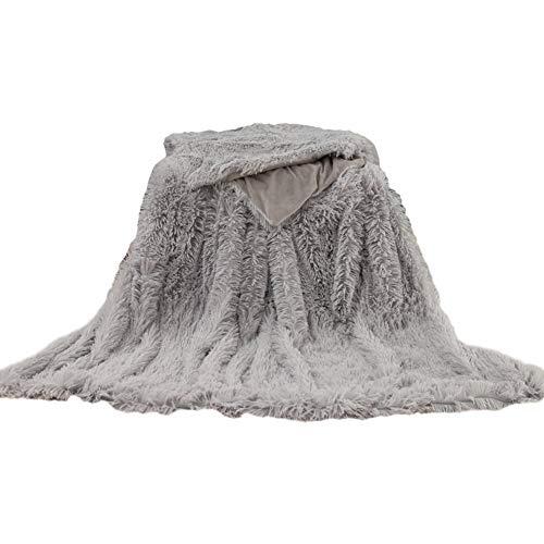 POHOVE Kunstfell-Zotteldecke, superweich, warm, flauschig, für Einzel-/Doppelbett, für Bett oder Couch, Sofa, 200 x 160 cm, 119 x 81 cm, 160 x 130 cm.