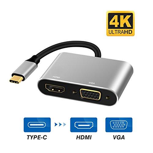 RayCue USB C HDMI VGA 変換 アダプタ USB Type C HDMI VGA 同時表示可 4K*2K @30Hz 高解像度(Thunderbolt ...