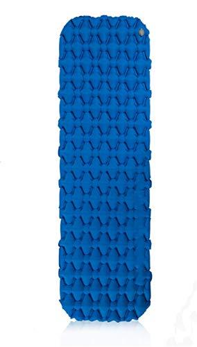Aiglen Colchón Inflable Colchón de Aire Colchoneta de Camping Colchón de Camping Ultraligero Colchoneta de Dormir Cama de Camping Almohadilla de Nailon (Color : Blue - Inflating Bag)