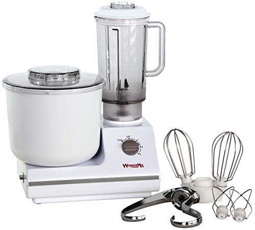 WonderMix Kitchen Mixer - German Design Bread Dough Mixer Machine - Electric Stand Mixer with Bonus Heavy Duty Blender and Attachments High Capacity Bread Mixer