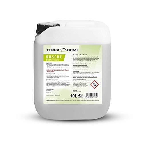 TerraDomi Rusche die Steindusche, 10 L, Steinreiniger für bis zu 4000 m², Reinigungsmittel für saubere Wege & Plätze, Wegerein, biologisch abbaubar