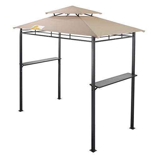 Palm Springs Deluxe 8FT Double-Tier Barbecue Canopy/BBQ Grill Tent