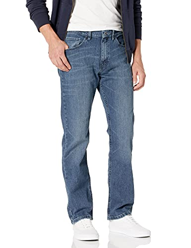 Nautica Men's 5 Pocket Relaxed Fit Stretch Jean, Gulf Stream Wash, 30W 32L