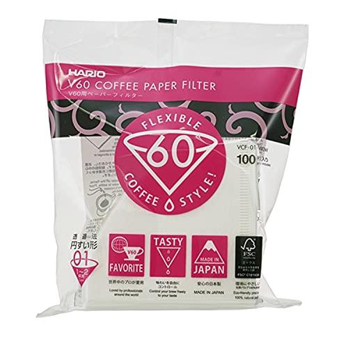 Hario VCF01100W Filtros de café Desechables