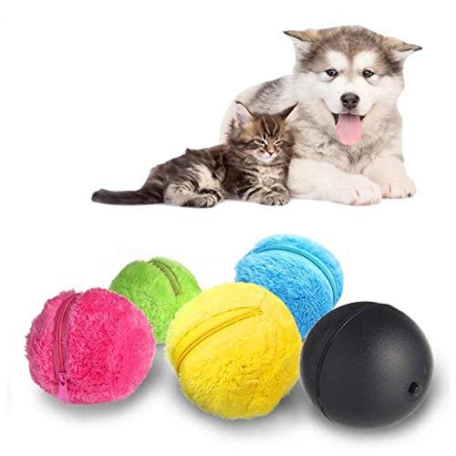 Ball für Hund Automatischer Rollender Ball Elektrische Spielzeug, Mini Roboter Reiniger Hunde Intelligenz Spielzeug Ball, Elektrischer Angetriebener Ball