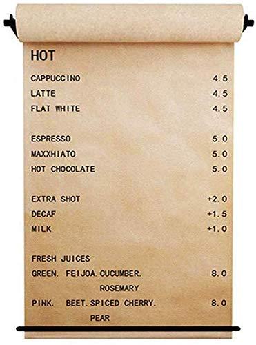 Aan de muur gemonteerde papieren rol houder papier dispenser en scooter kraftpapier herbruikbaar, geschikt voor Office Dessert Cafe Shop Dessert - 1 dispenser, papier, papierhouder