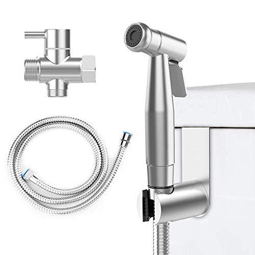 LAMZH Bidet Douche - Juego de cabezal de ducha para inodoro con cabezal de higiene, de acero inoxidable, boquilla de limpieza para baño, apto para baño