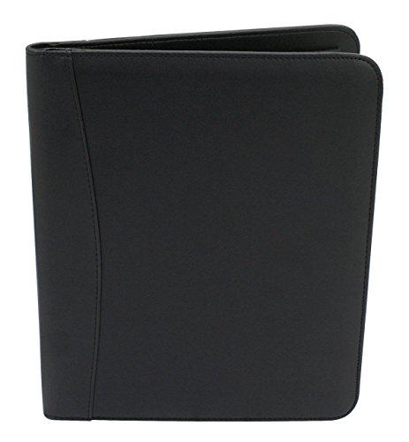 Friedrich|23 schrijfmap, met ritssluiting, rekenmachine en schrijfblok, 23 x 33 x 2 cm, polyester, zwart, 40001-2