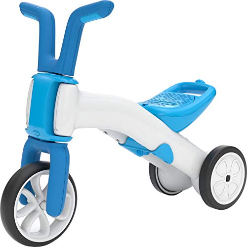 Chillafish Bunzi Gradual Balance Bike and Tricycle, 2-in-1 Ride on Toy for 1-3 Years Old, Combines Toddler Tricycle and Adjustable Lightweight Balance Bike in One, Silent Non-Marking Wheels, Blue