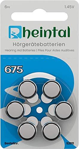Rheintal - 30 Premium Hörgerätebatterien Typ A675 für alle Hörgeräte mit Batteriefarbe BLAU - 1.45 V - 550mAh - PR44
