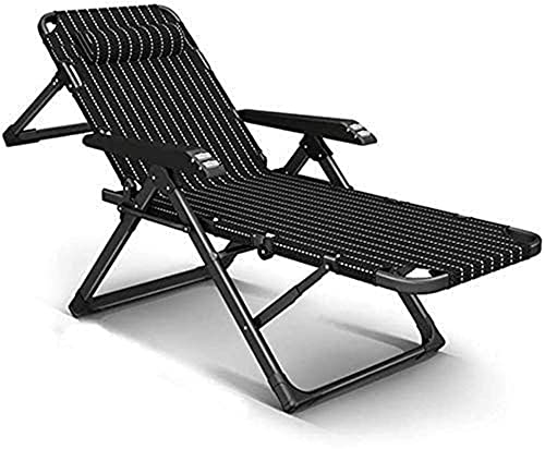 PAKUES-QO Tumbona reclinable, Silla reclinable para Exteriores, Tumbona de jardín Liviana, tumbonas de Interior, Playa para Tomar el Sol, sillón reclinable de Patio Extra Ancho