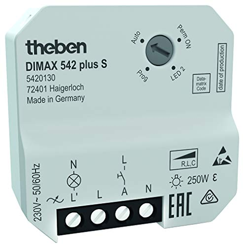 Theben 5420130 DIMAX 542 plus S - Universaldimmer mit automatischer Lasterkennung und Poti-Bedienung, Dimmer, Dimmschalter