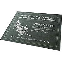 ラグ ラグマット カーペット 洗える シェニールラグ ネスタ 2畳 約185×185cm グリーン モール糸 ジャガード織 コンパクト収納 滑り止め加工 ワード柄 北欧 ホットカーペット対応 洗える 正方形