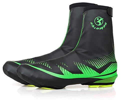 Shinmax Cubierta de Zapatos, Zapatillas de Ciclismo para Deportes al Aire Libre Zapatillas para Calzado Impermeable Bota Hombre Mujer MTB Ciclismo Bicicleta Invierno Mountain Road Toe Cover
