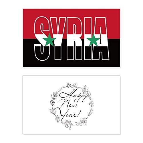 Syrische vlag naam nieuwjaarskaart herdenkingsbericht zegening