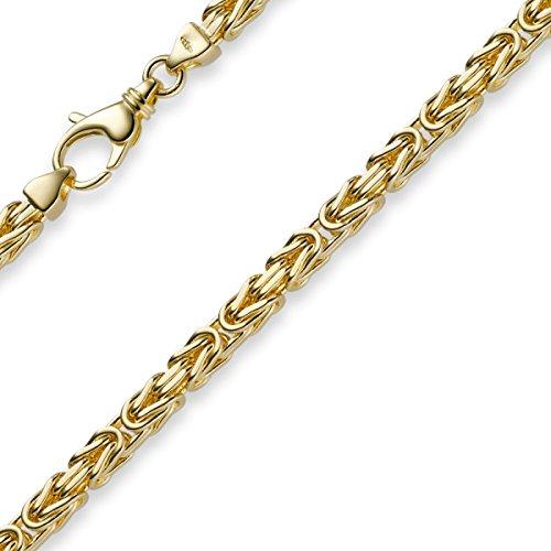 4mm Armband Armkette Königskette aus 585 Gold Gelbgold 21cm Herren
