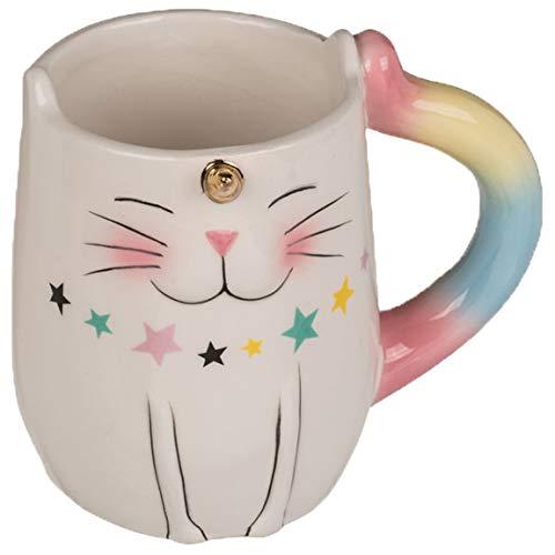 Bada Bing Becher Einhorn Katze Kaffeetasse Aus Keramik Tasse Tee Mug Kaffeebecher Unicorn Cat Mit 3D Effekt Geschenk 39