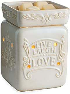CANDLE WARMERS ETC. Illumination Fragrance Warmer- Light-Up Warmer for Warming Scented Candle Wax Melts and Tarts or Essential Oils to Freshen Room, Live Well